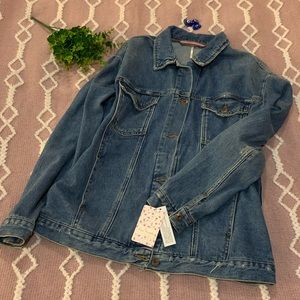 {Free People} denim jacket